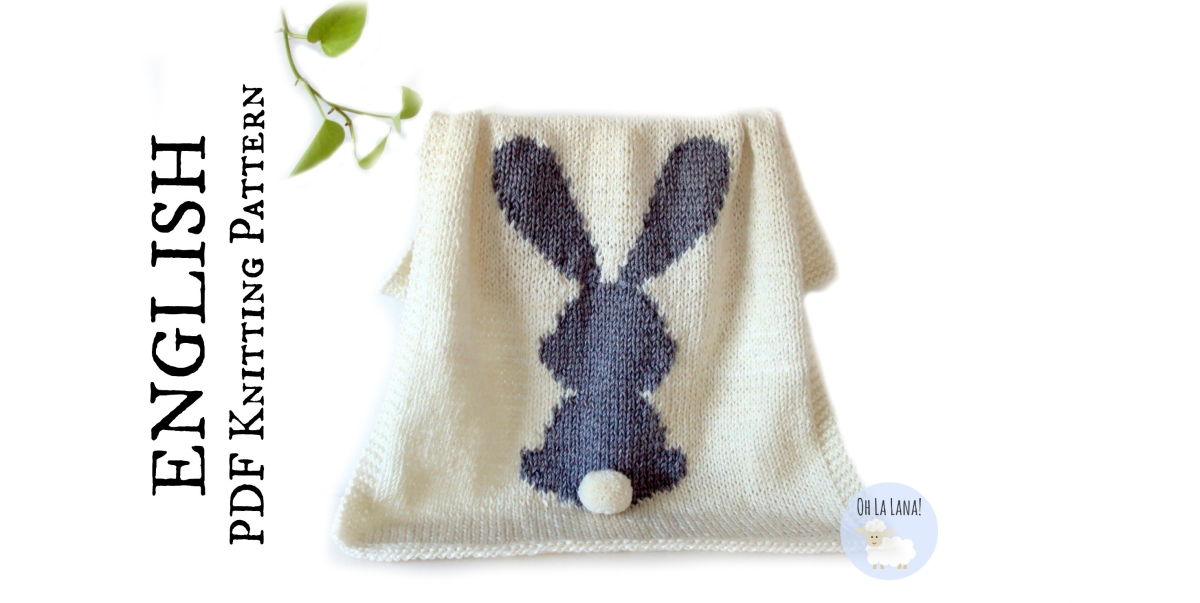 HOW TO: INTARSIA - BUNNY BABY BLANKET PATTERN